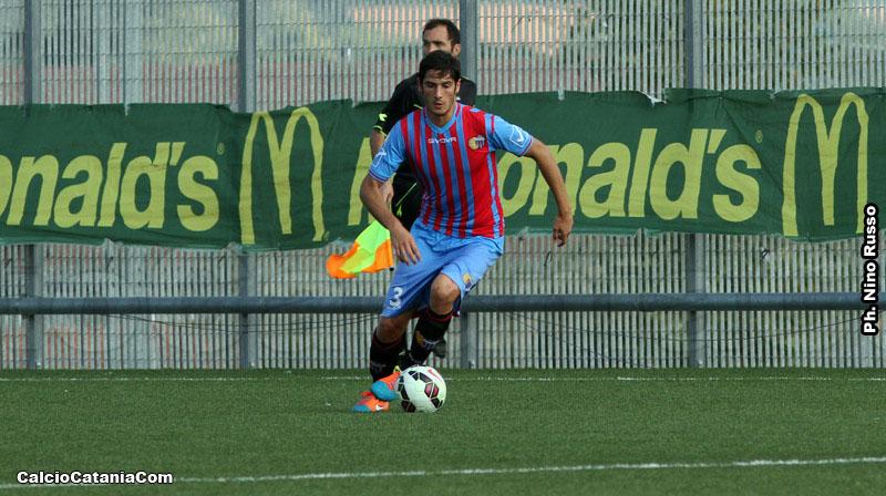 Luigi Carillo, con la maglia della Primavera rossazzurra, in Catania-Avellino del 2014-15