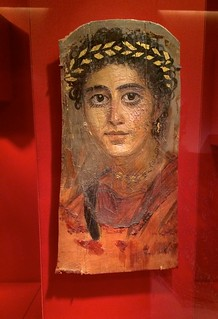 Portrait of a young woman with a gilded wreath, Roman