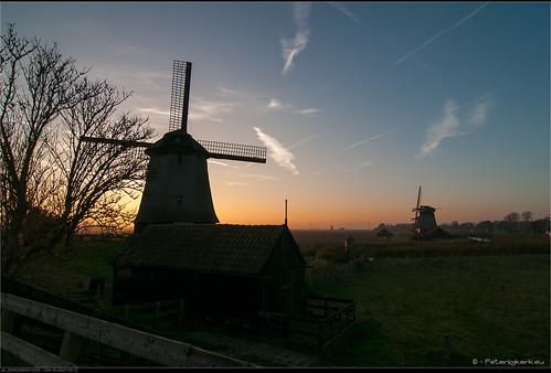 sunset zonsondergang nederland windmills zon noordholland schemer schermerhorn peterbijkerkeu