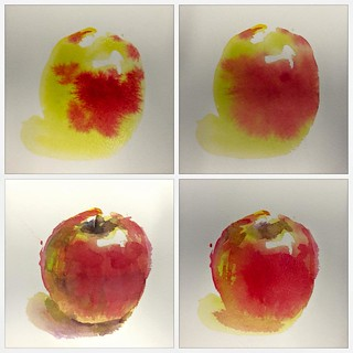 Watercolour painting - Apple Procedure | by Northshore School of Art