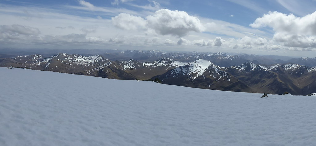 Mamore panorama from Ben Nevis