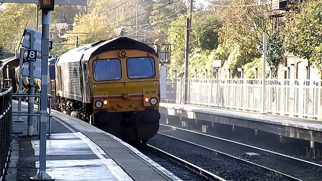 66745 'Modern Railways, the first 50 years' / 66726 'Sheffield Wednesday' 3S81 Stansted Mountfitchet 04/11/14
