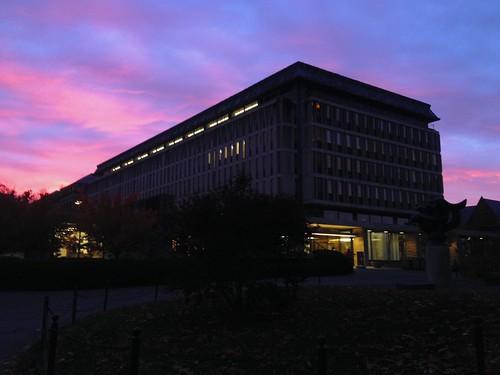 cornell cornelluniversity library sunrise colors skies olinlibrary student rlbphotography beckybarnett