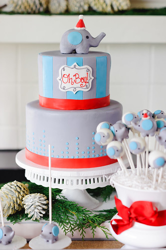 Sweet Winter Elephant Baby Shower | by Sweet Lauren Cakes
