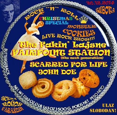 Rock 'n' roll Christmas Special Monsters Cookies