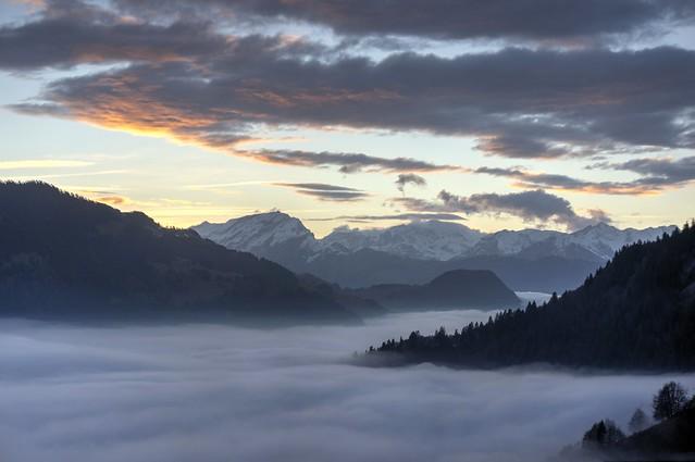 Sea of fog is rolling in