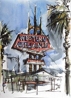 Western Appliance Vintage Sign. Western Appliance Sign, San Carlos Rd, San Jose.