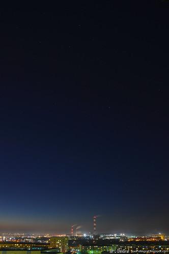 city blue light sunset sky night stars evening nikon outdoor poland manfrotto olek kielce d3200 nikonflickraward olekgraf