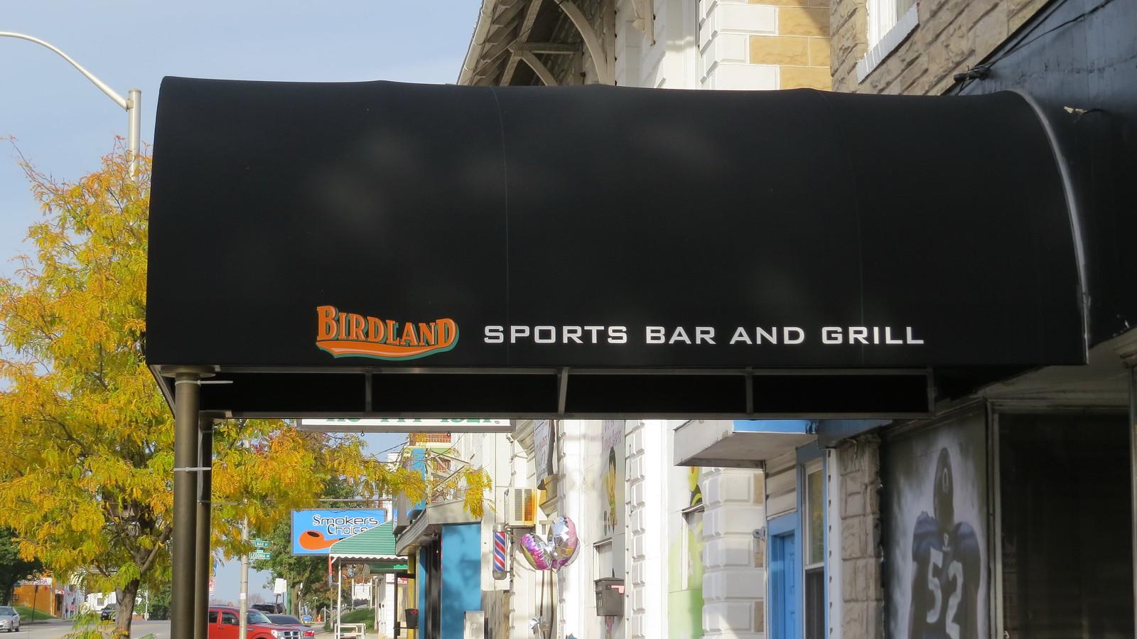 Birdland Sports Bar Awning