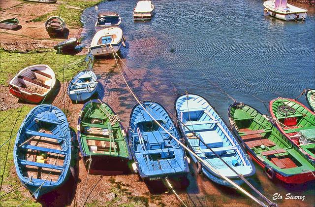 Barcas en Pedreña