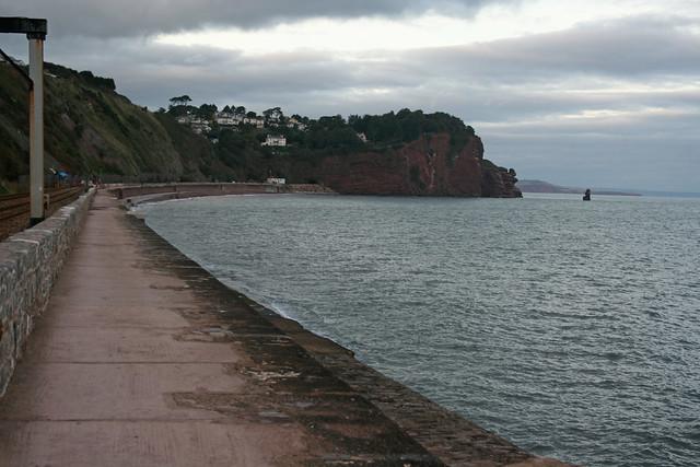 Sea wall near Teignmouth