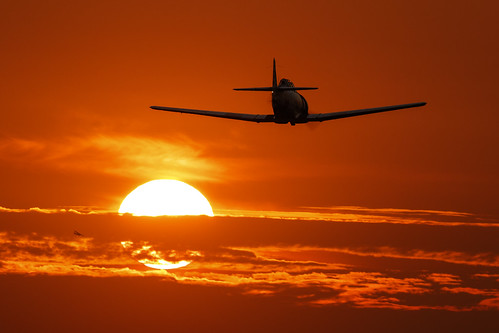 california sunset airport aircraft cable socal texan t6 upland northamerican 2015 at6g n3171g