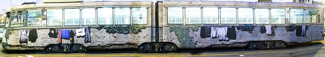 Work for TRACKS&MACRO, paste up on public Tram