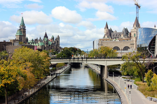 calebficner ottawa fall rideaucanal parliament parliamenthill parliamentofcanada peacetower canal chateaulaurier laurier colour color leaves skyline ottawaskyline