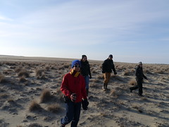 Hiking and exploring the dunes