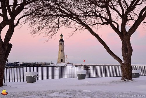 christmas winter light lighthouse white lake snow ny newyork tree ice architecture marina river landscape outdoors photography frozen buffalo cityscape waterfront main freezing erie distance eriebasin