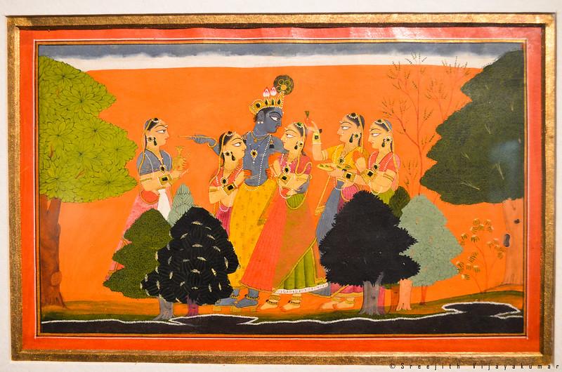 Krisha with his girlfriends, National Museum, New Delhi