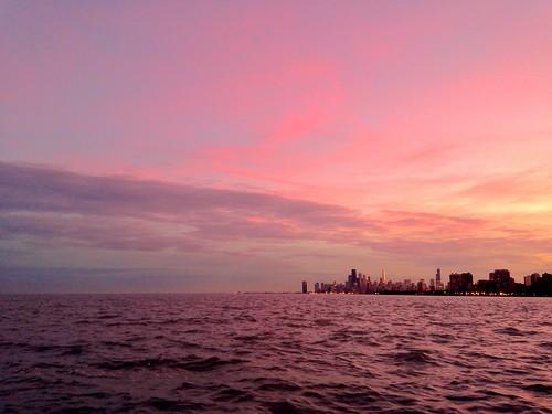 sunset chicago skyline montroseharbor pw