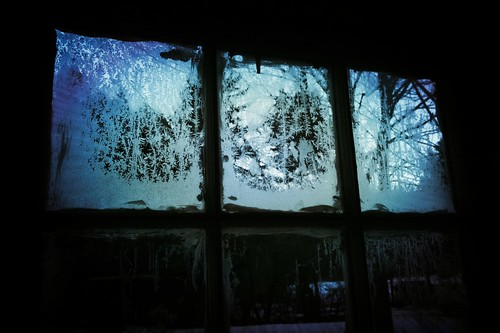 winter cold ice window glass frost view