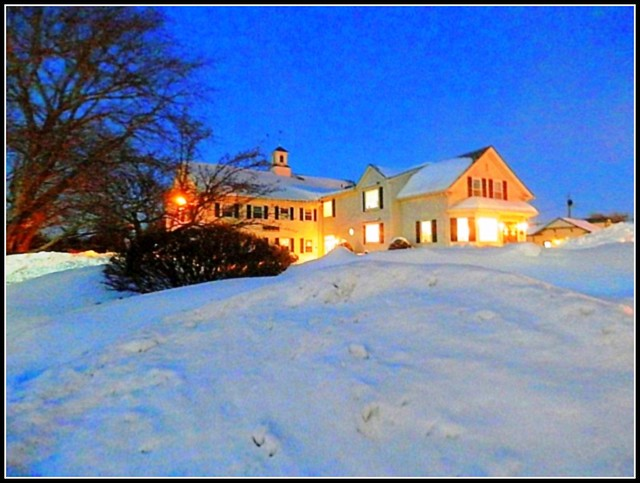 Winter Night In Chelmsford, MA February 5, 2015 - Photo by STEVEN CHATEAUNEUF - Editing Was Done On September 23, 2015