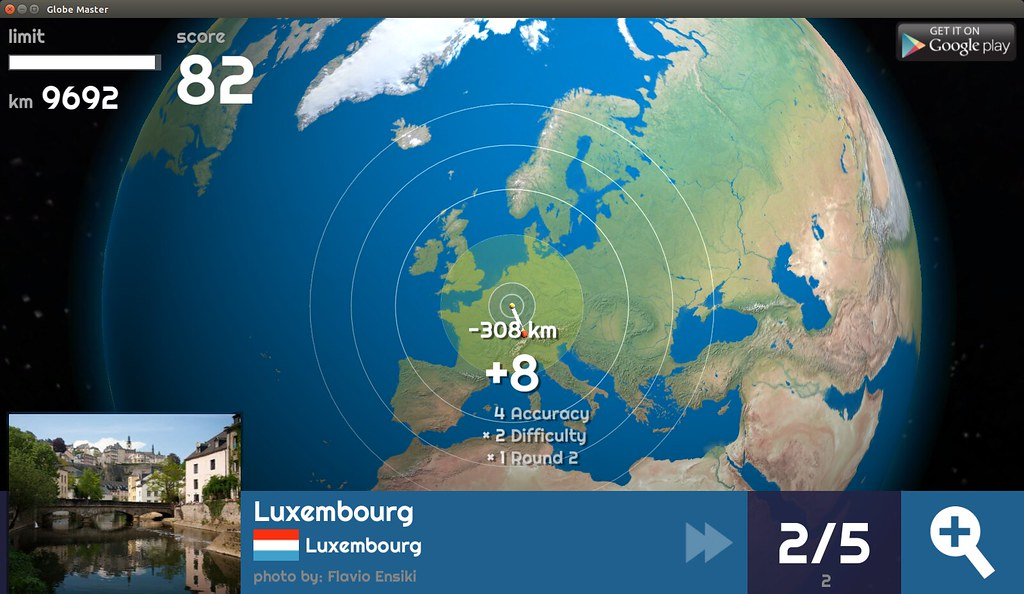 Globe Master 3D - Luxembourg
