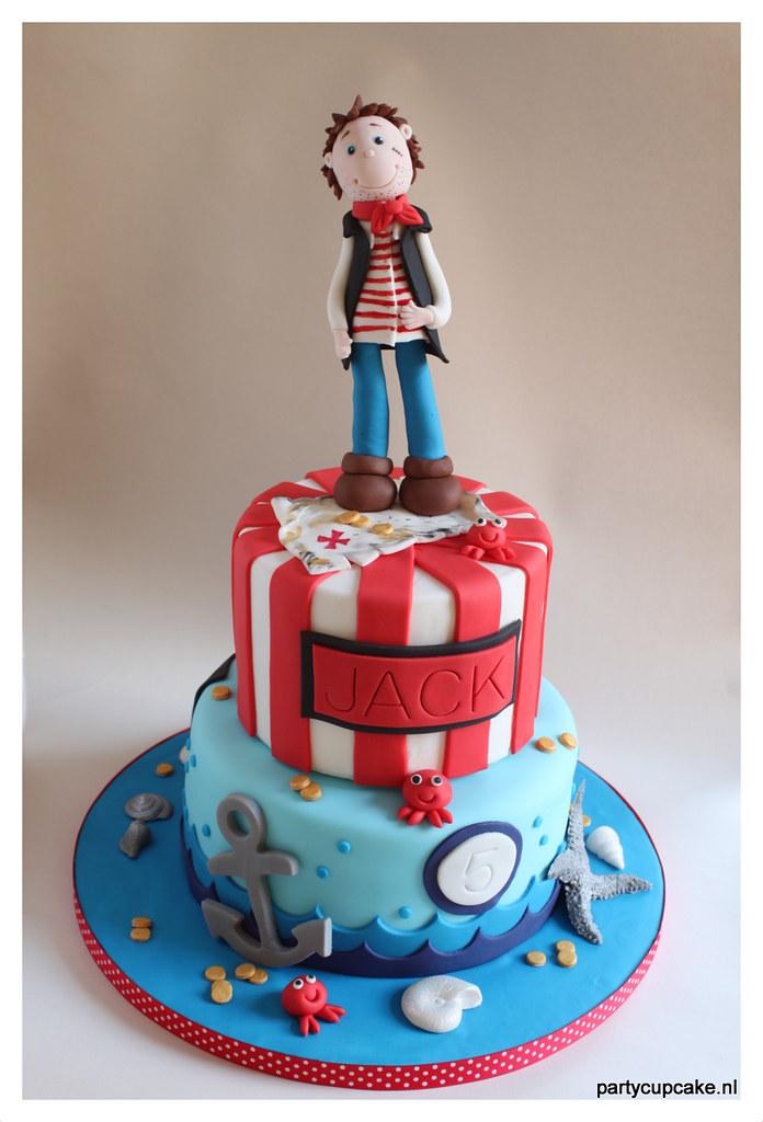 Admirable Pirate Birthday Cake Pirate Birthday Cake For My Sons Bir Birthday Cards Printable Inklcafe Filternl