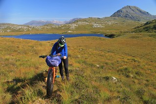 Checking we're on-track, near Ben Stack | by Pikes On Bikes
