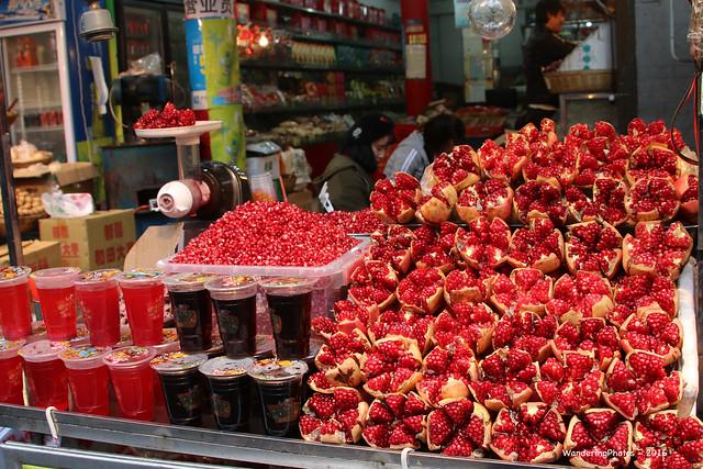 Pomegranate Juice Stall - Beiyuanmen Street - Muslim Food street - Xi'An Shaanxi China