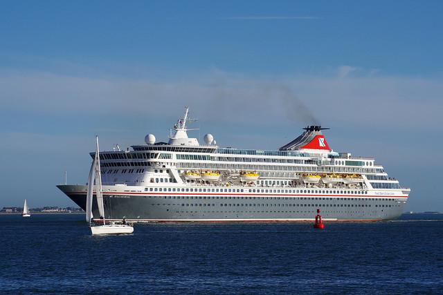 Balmoral arrives in Southampton Water