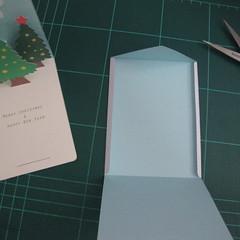 การทำการ์ดอวยพรลายต้นคริสต์มาสแบบป็อปอัป (Card Making Christmas Trees Pop-Up Card Template) 015