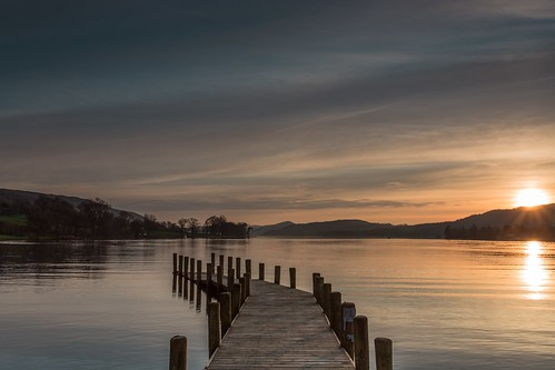 trees sunset reflection water clouds canon jetty lakedistrict coniston 6d 1740f4l