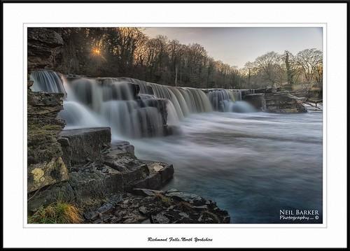 water waterfall rocks ngc richmond northyorkshire riverswale yorkshirewaterfall neilbarkerphotography