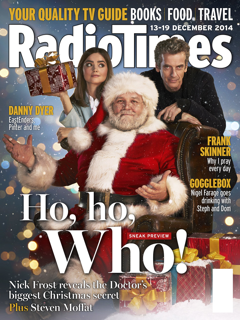 Doctor Who Last Christmas.Radio Times Doctor Who Last Christmas Cover Cover Shoot Ar