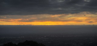 The sky is on fire - at Mount Hamilton Grandview Restaurant | by PeterThoeny