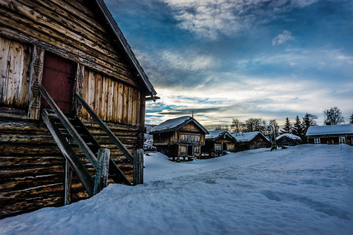 sunset norway newyear norwegian hut geilo 2015