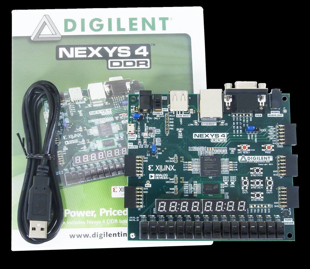 Nexys 4 DDR Artix-7 FPGA: Trainer Board Recommended for EC