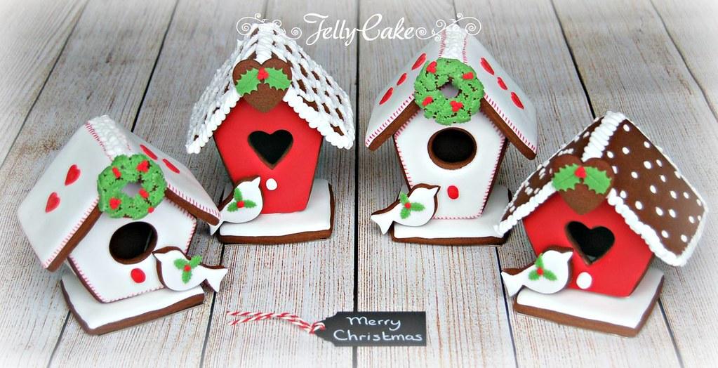 Christmas Birdhouses.Christmas Bird Houses A Few Of The Gingerbread Bird House