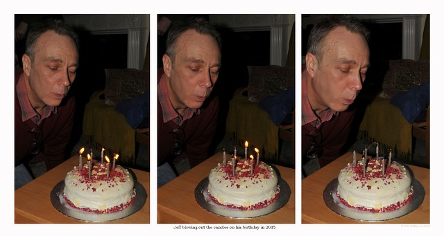 Jeff blowing out the birthday candles