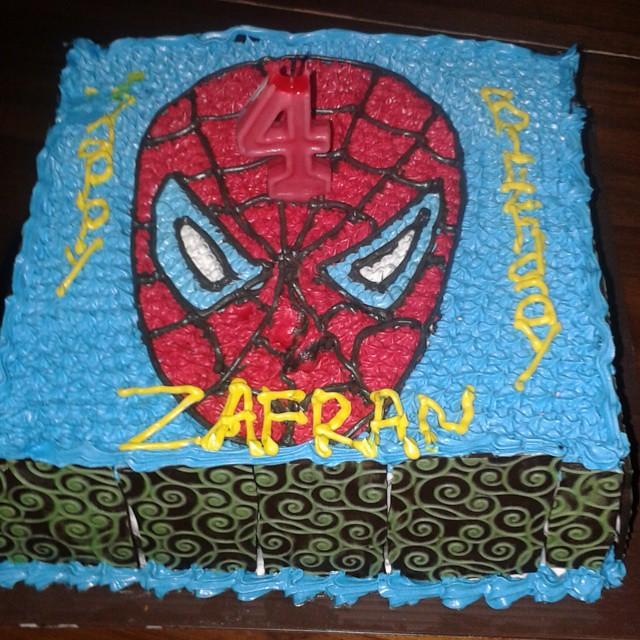 Admirable Happy Birthday Cake Zafran Kid Boy 4Years 26Desemb Flickr Personalised Birthday Cards Sponlily Jamesorg