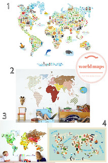 world maps for the kids room | by Paul+Paula