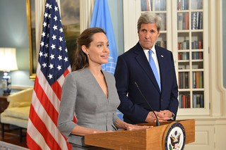 Secretary Kerry and UNHCR Special Envoy Jolie Pitt Address the Press on World Refugee Day in Washington | by U.S. Department of State