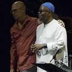 Dwight Trible and John Beasley at Aratani Theatre, Saturday, September 20, 2014. Photos reproduced by Bob Barry's kind permission.