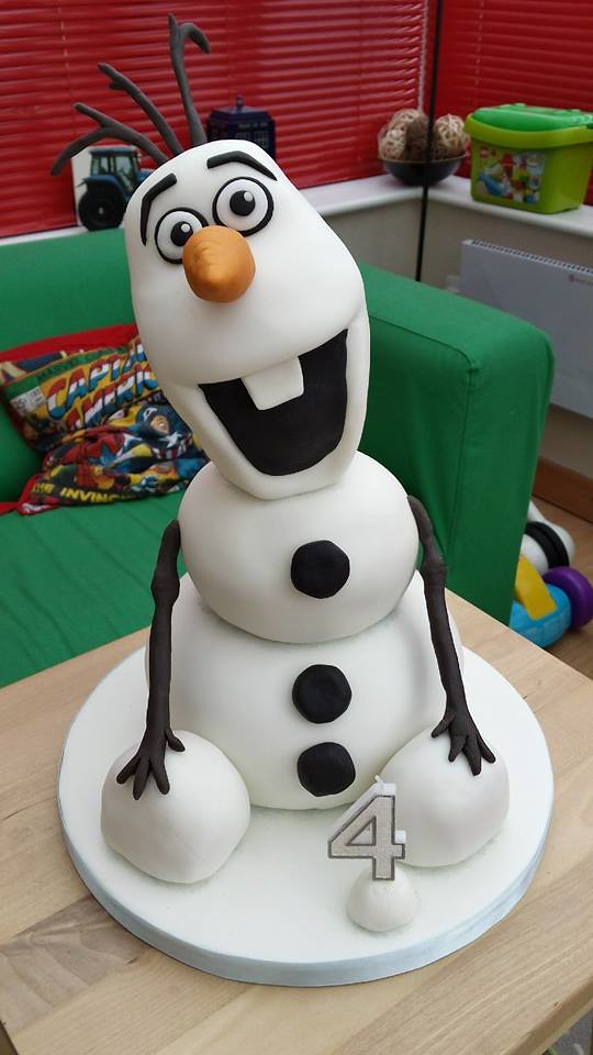 Admirable Olaf From Frozen Birthday Cake 3 Tier Birthday Cake With Flickr Birthday Cards Printable Opercafe Filternl