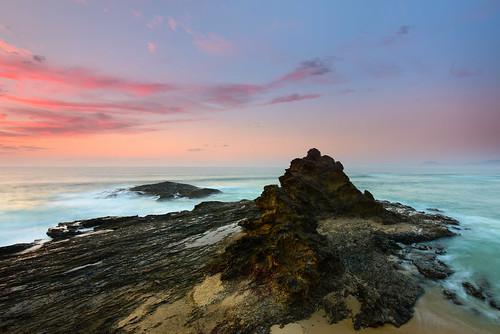 ocean sky water clouds sunrise australia newsouthwales cpl nambuccaheads rgnd09