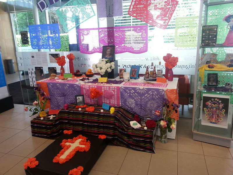 Dia de los Muertos display at Upper Riccarton Library