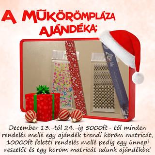 Karácsonyi Ajándék a Műkörömplázától!