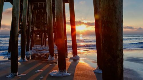 beach sunrise pier fernandinabeach