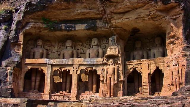 INDIEN, Jainskulpturen bei Gwalior (7-15Jh.), 13654/6615