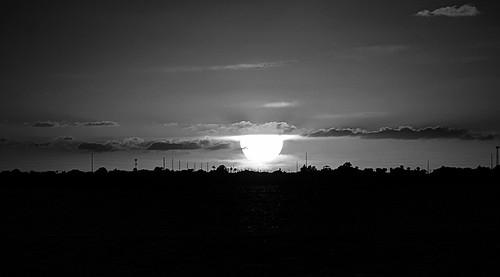 sunset blackandwhite usa texas corpuschristi