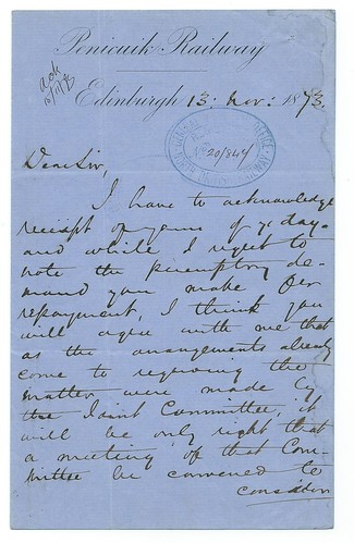 Penicuik Railway letterhead 1873   by ian.dinmore